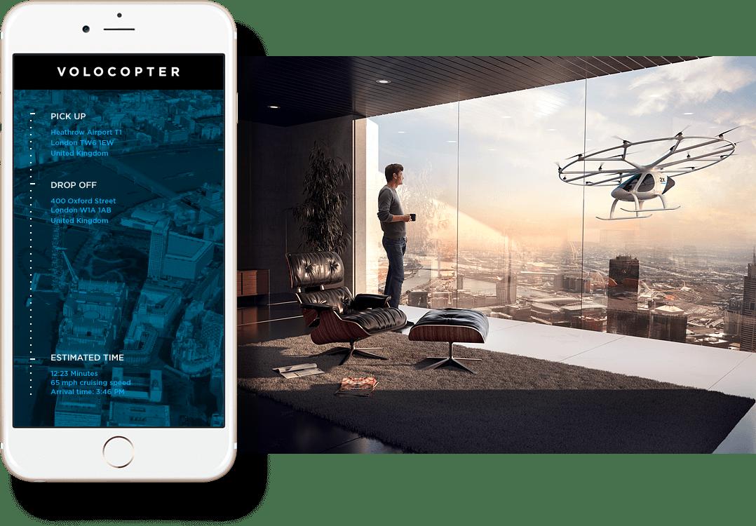 dron taxi - Volocopter
