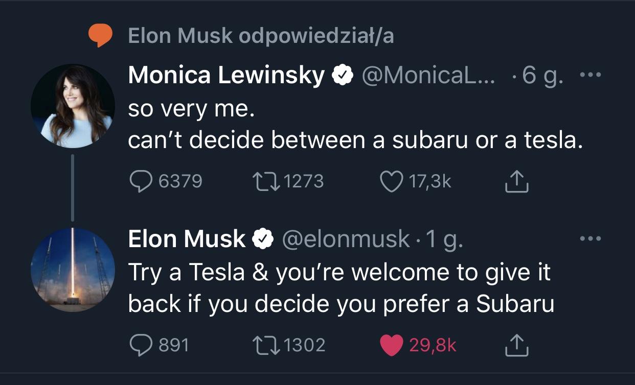 Monica Lewinsky Elon Musk