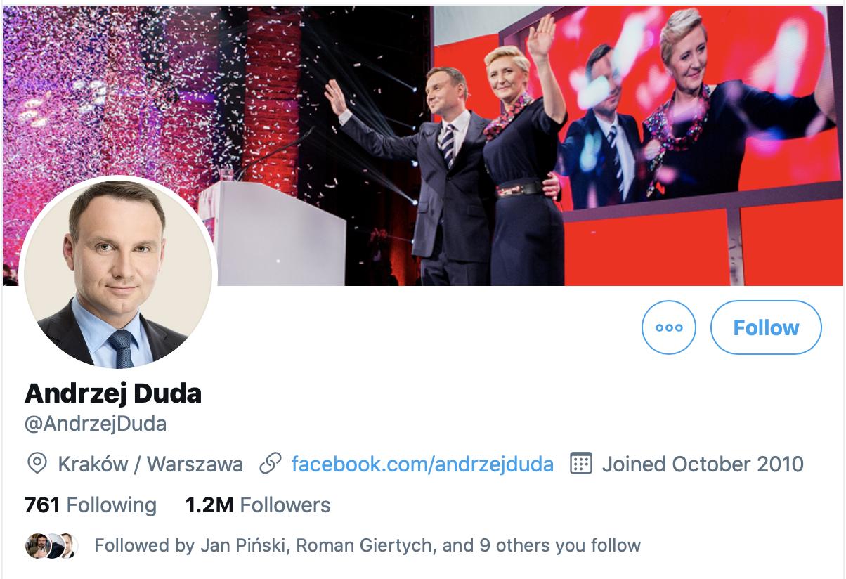 Andrzej Duda twitter